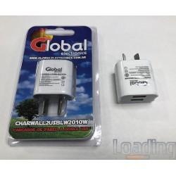 CARGADOR USB A PARED (220V)...